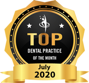 Peninsula Dental Implant Center won Top Dental Practice of the Month Award in July 2020