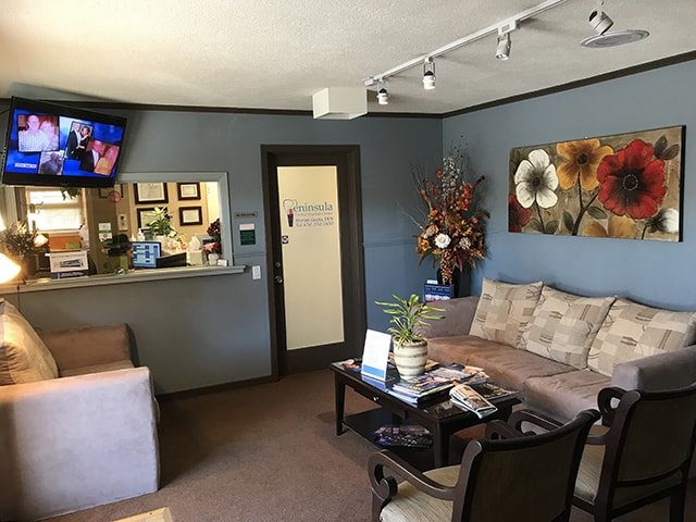 Peninsula Dental Implant Center - Front desk reception