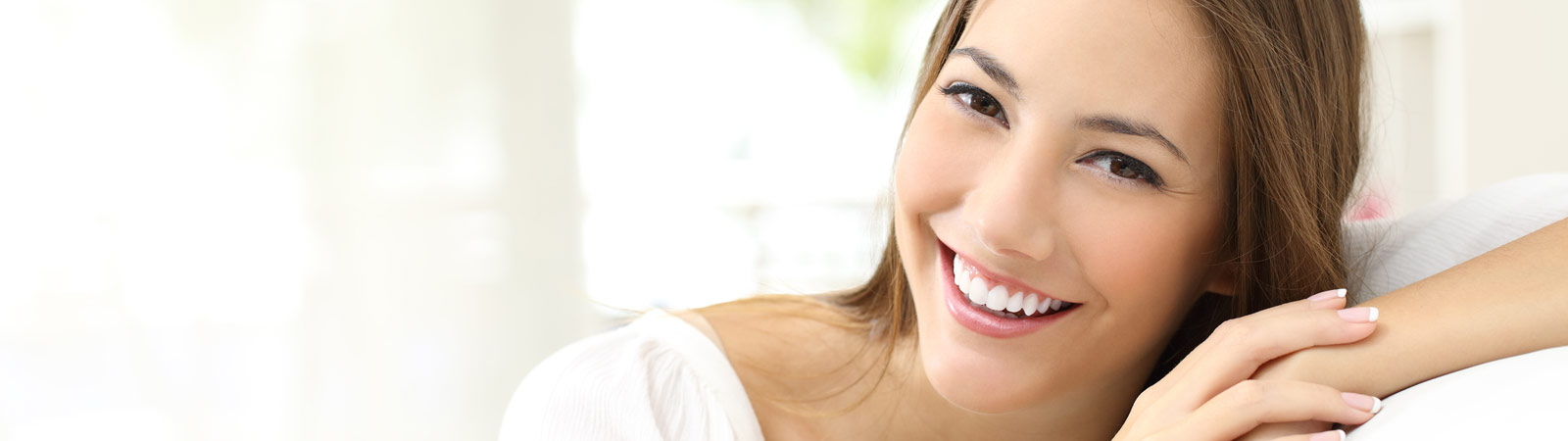 Beauty woman with white perfect smile